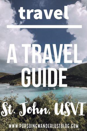 A Travel Guide to St. John, USVI