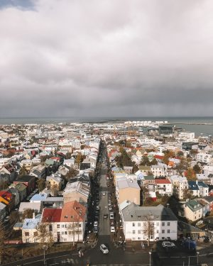 View of downtown Reykjavik from above.