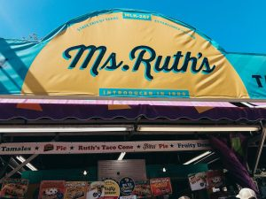 Ms. Ruth's banner at the state fair of texas